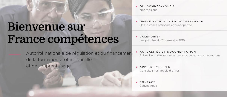 France Compétences possède son site internet